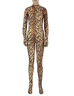 Zentai Suits Ninja Zentai Cosplay Costumes Brown Solid Leotard/Onesie / Zentai / Catsuit Lycra / Spandex Unisex Halloween / Christmas