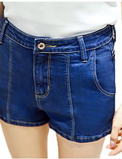 Casual / Eenvoudig-Katoen-Micro-elastisch-Kort / Jeans-Broek-Vrouwen