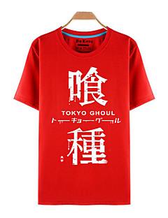 geinspireerd door Tokyo Ghoul Ken Kaneki Anime Cosplay Kostuums Cosplay T-shirt Print  Rood Korte mouw Top
