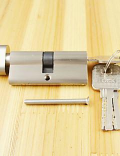 Schließzylinder Daumendrehzylinder 70mm (35/35), Schließzylinder mit Drehknopf mit 3 Schlüsseln, Pinsel nickle