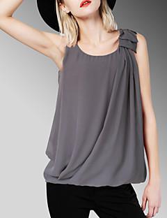 Uden ærmer Kvinders Ensfarvet Rund hals Tank Tops Polyester / Spandex