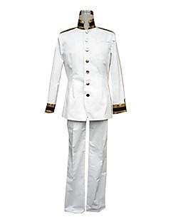 Inspired by Hetalia Japan Honda Kiku Anime Cosplay Costumes Cosplay Suits Solid White Long Sleeve Coat / Pants