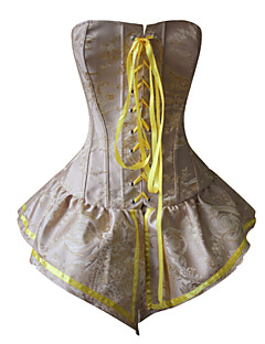 Women Bustier Waist Cincher Long Corset,Lingerie Shaper For Party