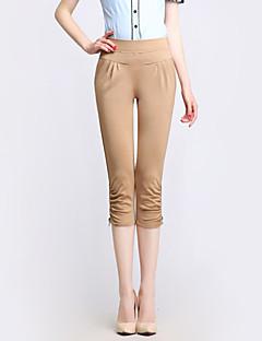 Mulheres Calças Plus Sizes / Casual Harem Algodão Micro-Elástica Mulheres