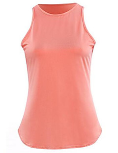 Women's Casual/Daily Simple Summer Blouse,Solid Crew Neck Sleeveless Blue / White / Black / Orange Polyester Thin