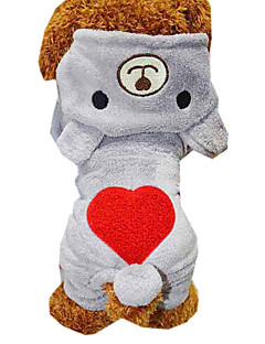 Cat / Dog Coat / Sweater Gray / Rose Dog Clothes Winter Hearts