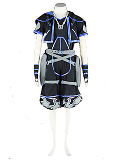 Inspired by Kingdom Hearts Sora Video Game Cosplay Costumes Cosplay Suits Patchwork Black Short SleeveCoat / T-shirt / Pants / Necklace /