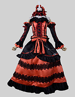 Inspired by Date A Live Kurumi Tokisaki Anime Cosplay Costumes Cosplay Suits Vintage Black Red SleevelessTop Skirt Headband Sleeves