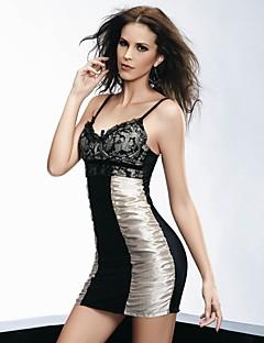 YUIYE® Hot Sale High Quality Women Black Sexy Lingerie Bustier Babydoll & Slips Nightwear Lace Bra Up Plus Size