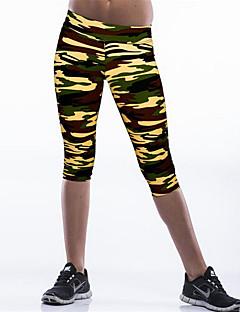 Mulheres Calças Casual / Simples Skinny Poliéster / Elastano Com Stretch Mulheres