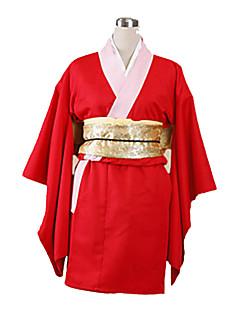 קיבל השראה מ Gintama Kagura אנימה תחפושות קוספליי חליפות קוספליי קימונו אחיד שרוול ארוך Yukata כפפות תחתונים חגורה קשת עבור נקבה