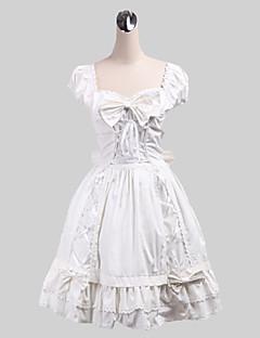 /שמלותחתיכה אחת לוליטה מתוקה לוליטה Cosplay שמלות לוליטה אחיד ללא שרוולים אורך בינוני שמלה ל כותנה
