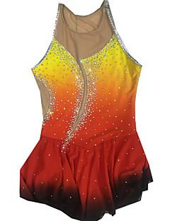 Eiskunstlaufkleider Damen Ärmellos Eislaufen Röcke & Kleider Eiskunstlauf-Kleid Videokompression Pailletten Elasthan / Elastan RotSkating