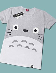 Inspireret af Min Nabo Totoro Kat Anime Cosplay Kostumer Cosplay T-shirt Trykt mønster Gul Kort Ærme T-shirt For Unisex