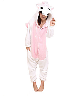 Kigurumi Pajamas Unicorn Leotard/Onesie Halloween Animal Sleepwear Pink Patchwork Coral fleece Kigurumi UnisexHalloween / Christmas /
