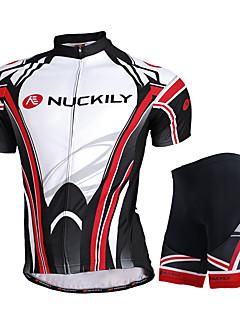 NUCKILY® Camisa com Shorts para Ciclismo Homens Manga Curta MotoRespirável / Secagem Rápida / Resistente Raios Ultravioleta / Filtro