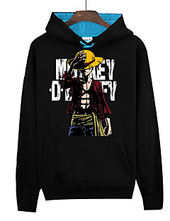 Inspirado por One Piece Monkey D. Luffy Anime Fantasias de Cosplay Hoodies cosplay Estampado Manga Longa Blusa Para Unisexo
