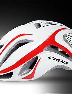 Capacete ( Amarelo / Branco / Vermelho / Azul , PC / EPS ) - Estrada / Esportes - Mulheres / Homens 17 Aberturas Ciclismo de Estrada