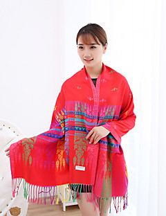 Ms National Wind Long Fringed Shawls Spend Jacquard Warm Colored Scarves
