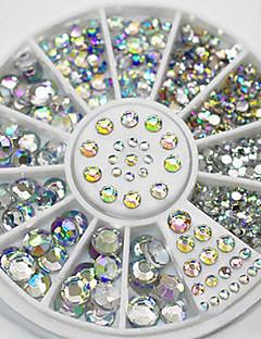 4 Size 300pcs Nail Art Tips Crystal Glitter Rhinestone Decoration Wheel