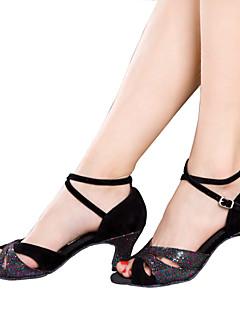 Latin-Pantofi de dans(Negru / Albastru / Argintiu / Multi-Color) -NePersonalizabili-Damă