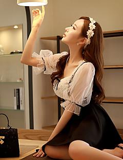 Women's Solid White Blouse,Asymmetrical ½ Length Sleeve