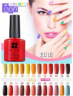 1 pcs ana 192 cores gelpolish nail art gel unhas de molho off uv 10ml polonês 25-48