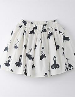 Girl's Print Skirt,Cotton Summer White