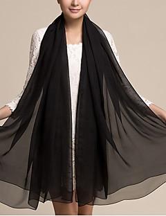 Damer Vintage / Kontor / Casual Bomuld Halstørklæde-Ensfarvet Rektangulær / Uendelighedshalstørklæde