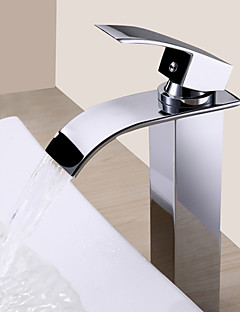 Sprinkle® Sink Faucets  ,  Contemporary  with  Chrome Single Handle One Hole  ,  Feature  for Waterfall