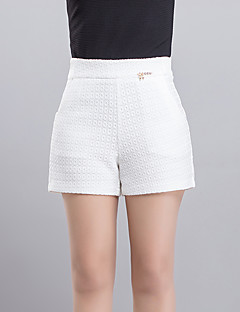 Women's Solid White  Black Shorts Pants,Casual  Day  Simple