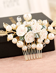 Women's Pearl / Alloy Headpiece-Wedding / Special Occasion Hair Combs / Flowers 1 Piece