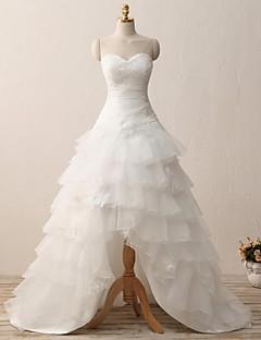 A-line Wedding Dress-Court Train Sweetheart Organza