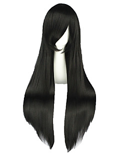 Cosplay Wigs Shakugan no Shana Shana Black Long Anime Cosplay Wigs 80 CM Heat Resistant Fiber Male / Female