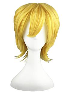 Cosplay Paruky Kingdom Hearts Villetta Nu Zlatá Short Anime Cosplay Paruky 35 CM Horkuvzdorné vlákno Pánský / Dámský