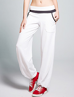 Yoga Pants Pants Breathable / Sweat-wicking / Static-free Natural Stretchy Sports Wear White / Red