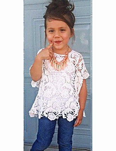 Girl's Cotton Summer Fashion waistcoat lace Pierced Tee   Cowboy Trousers  Three-Piece Set
