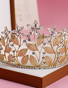 Dame Rhinsten / Krystal / Legering Medaljon-Bryllup / Speciel Lejlighed Diademer 1 Stykke