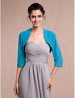 Wedding / Party/Evening Chiffon Shrugs 3/4-Length Sleeve Women's Wrap