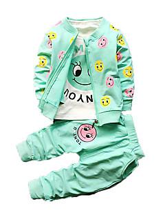 Baby Tøjsæt Bomuld Trykt mønster Vinter-
