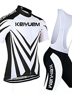 KEIYUEM®Others Unisex Short Sleeve Spring / Summer / Autumn Cycling Clothing Bib Suits/ Breathable Quick Dry#17