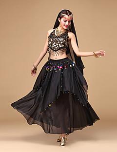 Χορός της κοιλιάς Σύνολα Γυναικεία Επίδοση Σιφόν 3 Κομμάτια Αμάνικο Κορυφή Φούστα Αξεσουάρ Κεφαλής
