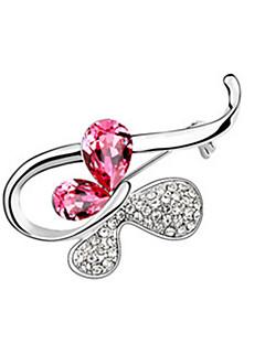 Dame Broșe Cristal Animal Shape Fluture Bijuterii Pentru Nuntă Petrecere