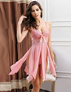 Women Strap V Neck Split Babydoll & Slips / Ultra Sexy Nightwear,Nylon / Polyester