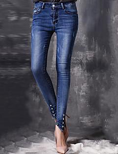 Damen Hose - Einfach Jeans Andere Mikro-elastisch