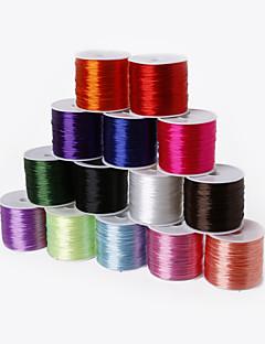 beadia 60mts 0,7 milímetros estiramento cabo de beading elástica& fio& string (14 cores)