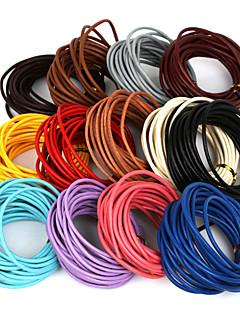 beadia 5 mts 3mm cordão de couro rodada& fio& corda& cabo de jóias (13 cores)