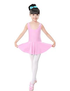 Balet Šaty Dětské Trénink elastan Mašle Jeden díl Bez rukávů Přírodní Šaty 120:53cm,  130:55cm,   140:58cm,   150:61cm