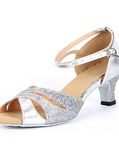 Femei spumante Glitter glezna dunga de dans latin Pantofi Sandale (Mai multe culori)