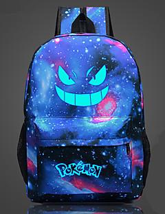Tasche kleine Monster Ash Ketchum Galaxie Nacht leuchtend fluoreszierend Leinwand Rucksack Tasche